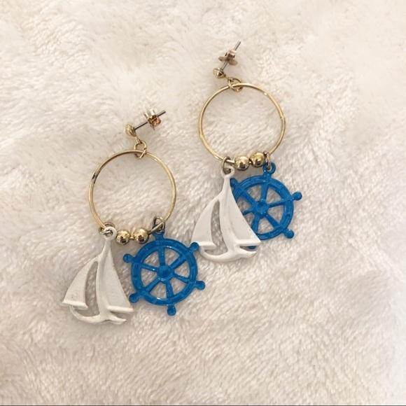 Vintage Jewelry - Vintage nautical earrings!